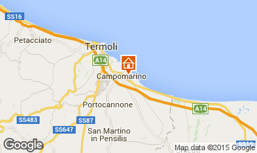 Map Campomarino Apartment 57140