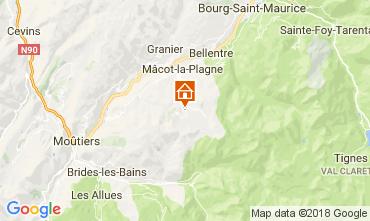 Map La Plagne Apartment 112637