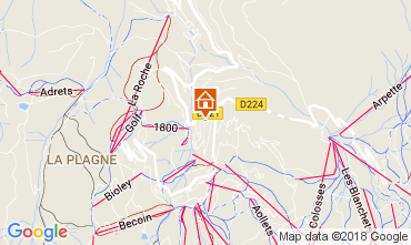 Map La Plagne Apartment 112637