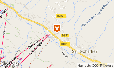 Map Serre Chevalier Chalet 2856