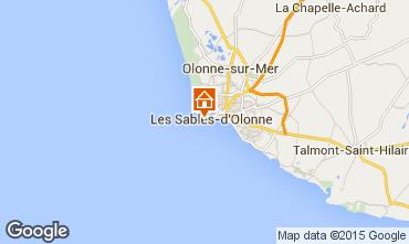 Map Les  Sables d'Olonne Apartment 70662