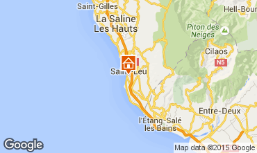 Map Saint Leu Studio apartment 73583