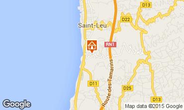 Map Saint Leu Studio apartment 73583