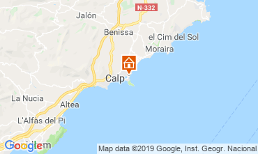 Map Calpe Apartment 103401