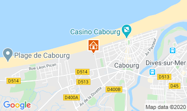 Map Cabourg Apartment 84925