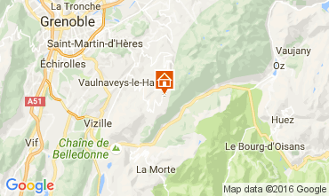 Map Chamrousse Apartment 16753