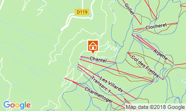 Map Les Arcs Apartment 117554