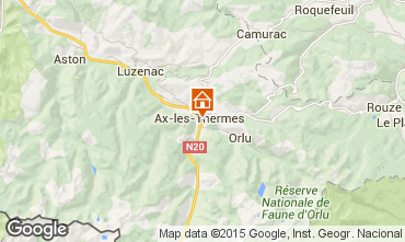 Map Ax Les Thermes Apartment 99264