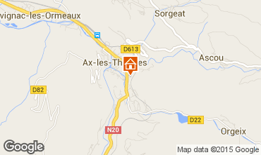Map Ax Les Thermes Apartment 99264