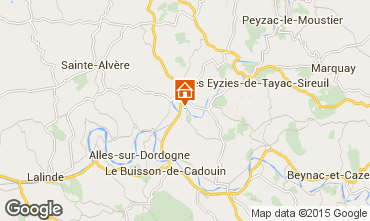 Map Le Bugue Self-catering property 84197