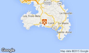 Map Sainte Luce Apartment 15113