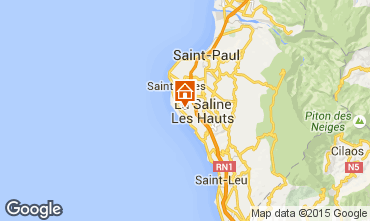 Map La Saline les Bains Villa 78754