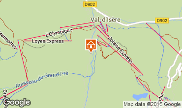 Map Val d'Isère Apartment 3368