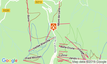 Map Les 2 Alpes Apartment 118081