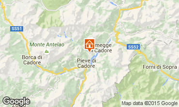 Map Cortina d'Ampezzo Apartment 40563