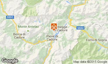 Map Cortina d'Ampezzo Apartment 40563