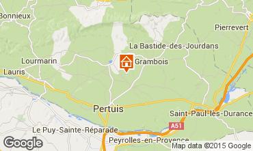 Map La Tour d'Aigues Self-catering property 92894