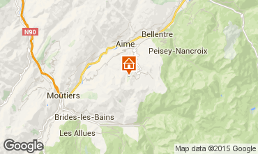 Map La Plagne Studio apartment 91307
