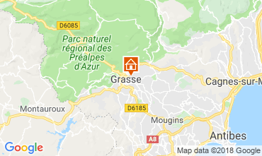 Map Grasse Self-catering property 56131