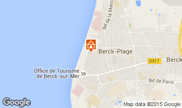 Map Berck-Plage Apartment 8893