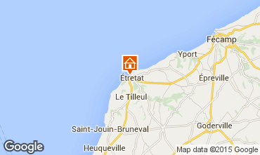 Map Etretat Apartment 61223