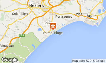 Map Valras-Plage Apartment 69389