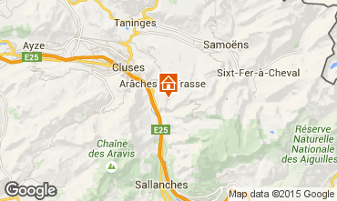 Map Les Carroz d'Araches Apartment 627