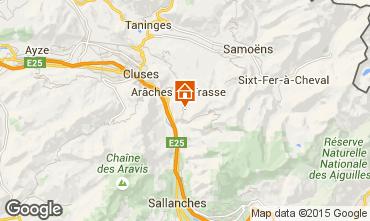Map Les Carroz d'Araches Apartment 627