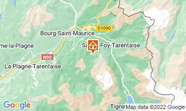 Map Les Arcs Studio apartment 28248