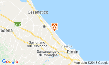 Map Bellaria Igea Marina Apartment 82163
