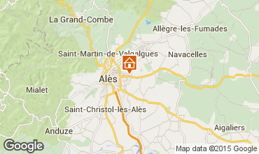 Map Alès Self-catering property 68431