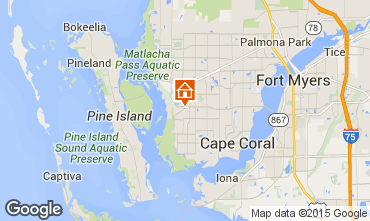 Map Cape Coral Villa 57904