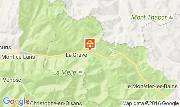 Map La Grave - La Meije House 4763