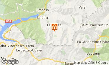 Map Les Orres Studio apartment 2096