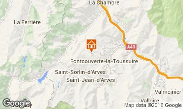 Map La Toussuire Apartment 67158