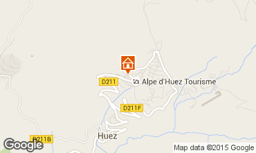 Map Alpe d'Huez Studio apartment 58480