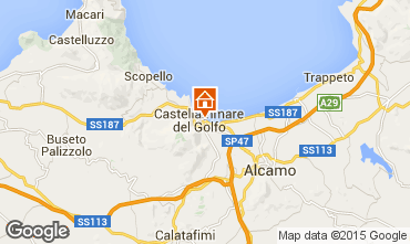 Map Castellammare del Golfo Apartment 46504