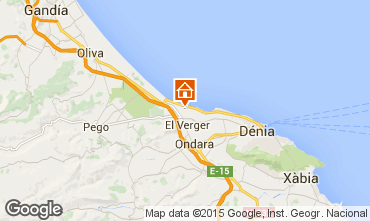Map Denia Bungalow 97352