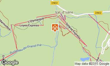 Map Val d'Isère Apartment 3347