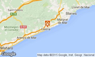 Map Calella de Mar Apartment 8169