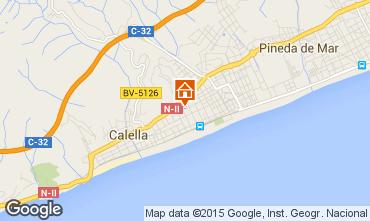 Map Calella de Mar Apartment 8169