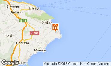 Map Jávea Villa 91445