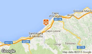 Map Capo d'Orlando Villa 77676
