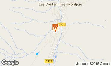 Map Les Contamines Montjoie Studio apartment 50448