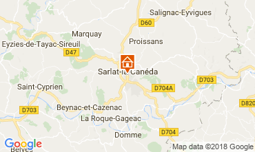 Map Sarlat Studio apartment 113167
