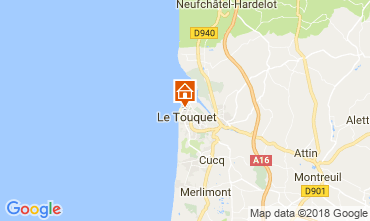 Map Le Touquet Apartment 114396