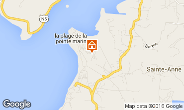 Map Sainte Anne (Martinique) Studio apartment 30963