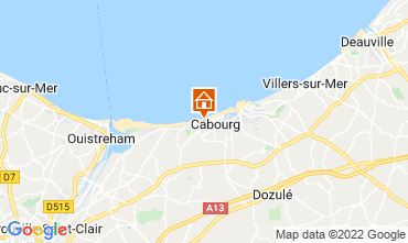 Map Cabourg Apartment 55705