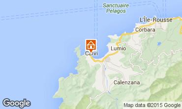 Map Calvi Studio apartment 90426