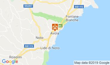 Map Avola Studio apartment 119075